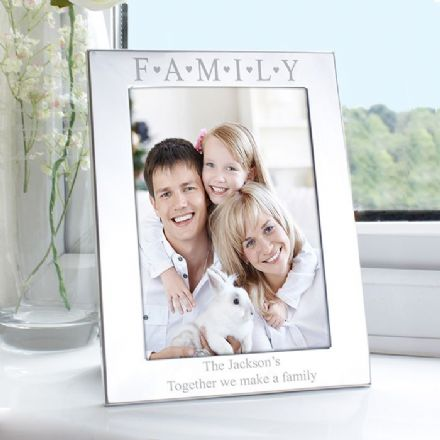 Personalised Silver FAMILY 5x7 Photo Frame